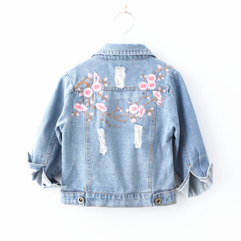Girls Embroidered Denim Jackets