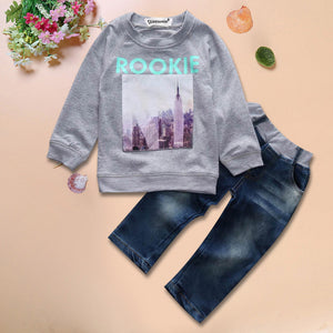 Boys Jeans and Rookie Sweatshirt Set