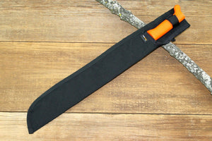 "Gavilan Machete, 18"" Black with Orange Handle"