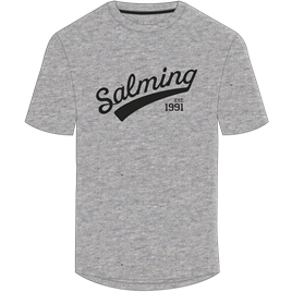 Høj Salming Logo T-shirt, grå, Junior