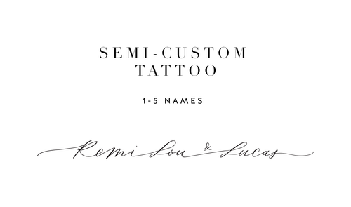 Semi-custom Tattoo Design