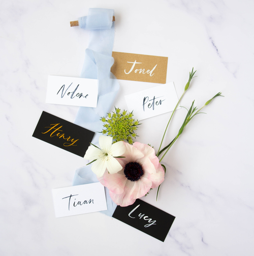 Calligraphy Name Cards - Susan Brand Designs Cape Town Paarl