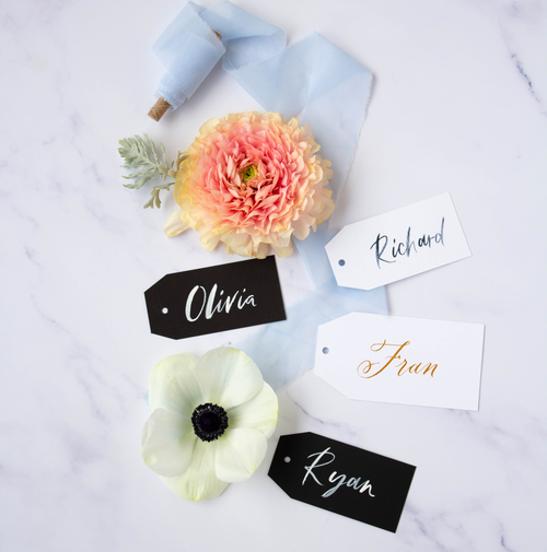 Calligraphy Name Tags