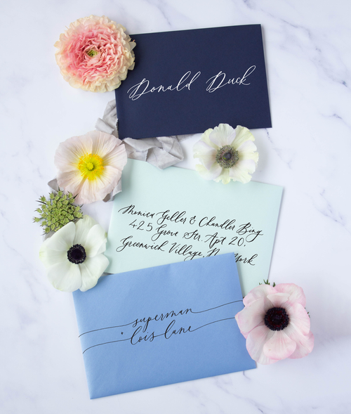 Pointed-Pen Calligraphy Envelopes - Susan Brand Designs Cape Town Paarl