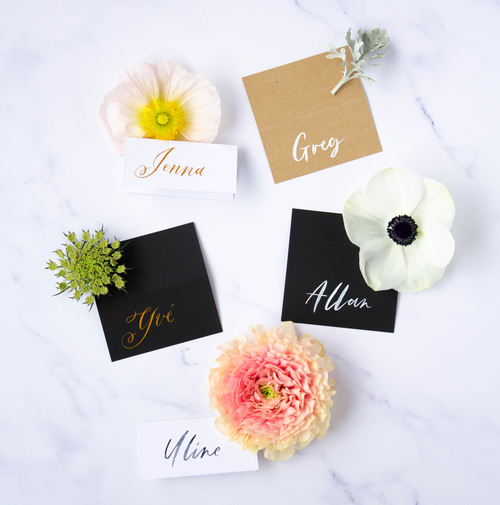 Calligraphy Tent Cards