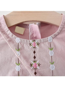 Beautiful Long Sleeve Embroidered Flower Dress