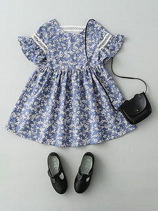 Adorable Floral And Lace Dress