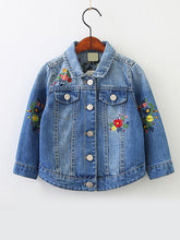 Load image into Gallery viewer, Denim Floral Jacket
