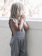 Load image into Gallery viewer, Adorable Backless Striped Jumpsuit