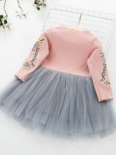 Load image into Gallery viewer, Super Adorable Long Sleeve with Floral Design and Tulle Skirt