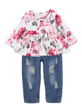 Load image into Gallery viewer, Floral Top And Pant Set