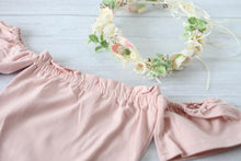 Load image into Gallery viewer, Beautiful Blush Off Shoulder Romper