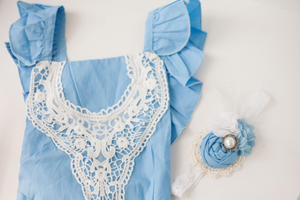 Blushing Blue Romper