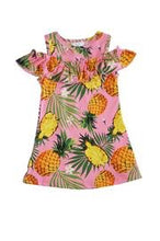Load image into Gallery viewer, Pretty Pineapple Palm Dress