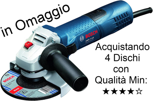 Bosch 720 Watt Ø 115 mm with Adjustment of Turns and Smaller Spigot to hold it better - Add me to your Cart to get me as a Free Gift, Buying 4 Gres Discs with Min Quality: ★★★★ ☆