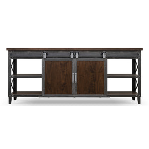 Rolling Barn Door Entertainment Center