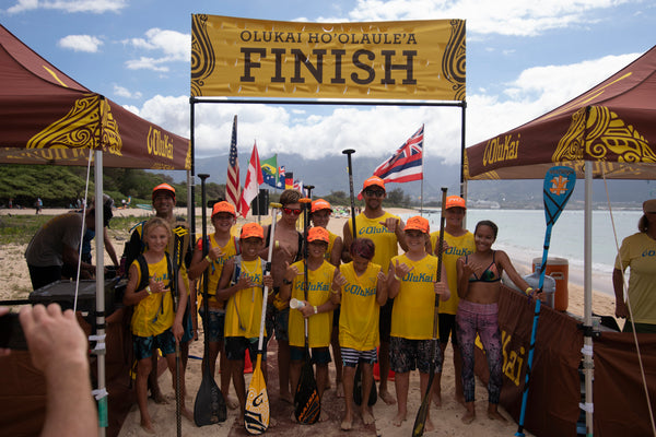 Photo of Ho'o Race Finish Line with Race Contestants