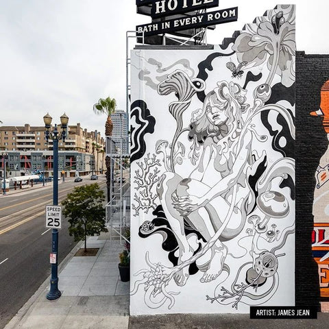 pow wow artist james jean mural