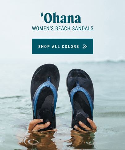 ʻOhana in Blueberry / Black Women's Water Friendly Sandals OluKai