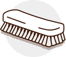 Gentle bristle brush or towel