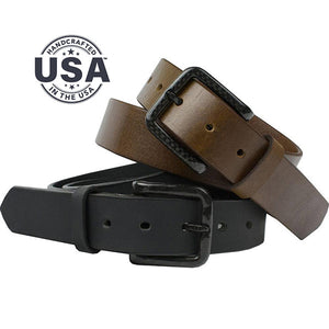 The Specialist Belt Set by Nickel Smart - carbonfiberbelts.com, made in USA with genuine leather