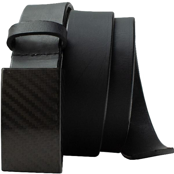 2.0 Black Belt by Smart Nickel - carbonfiberbelts.com, no metal, lightweight, TSA friendly