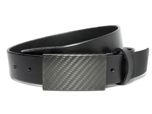 TSA friendly black dress belt, black carbon fiber belt has no metal for zero beeps