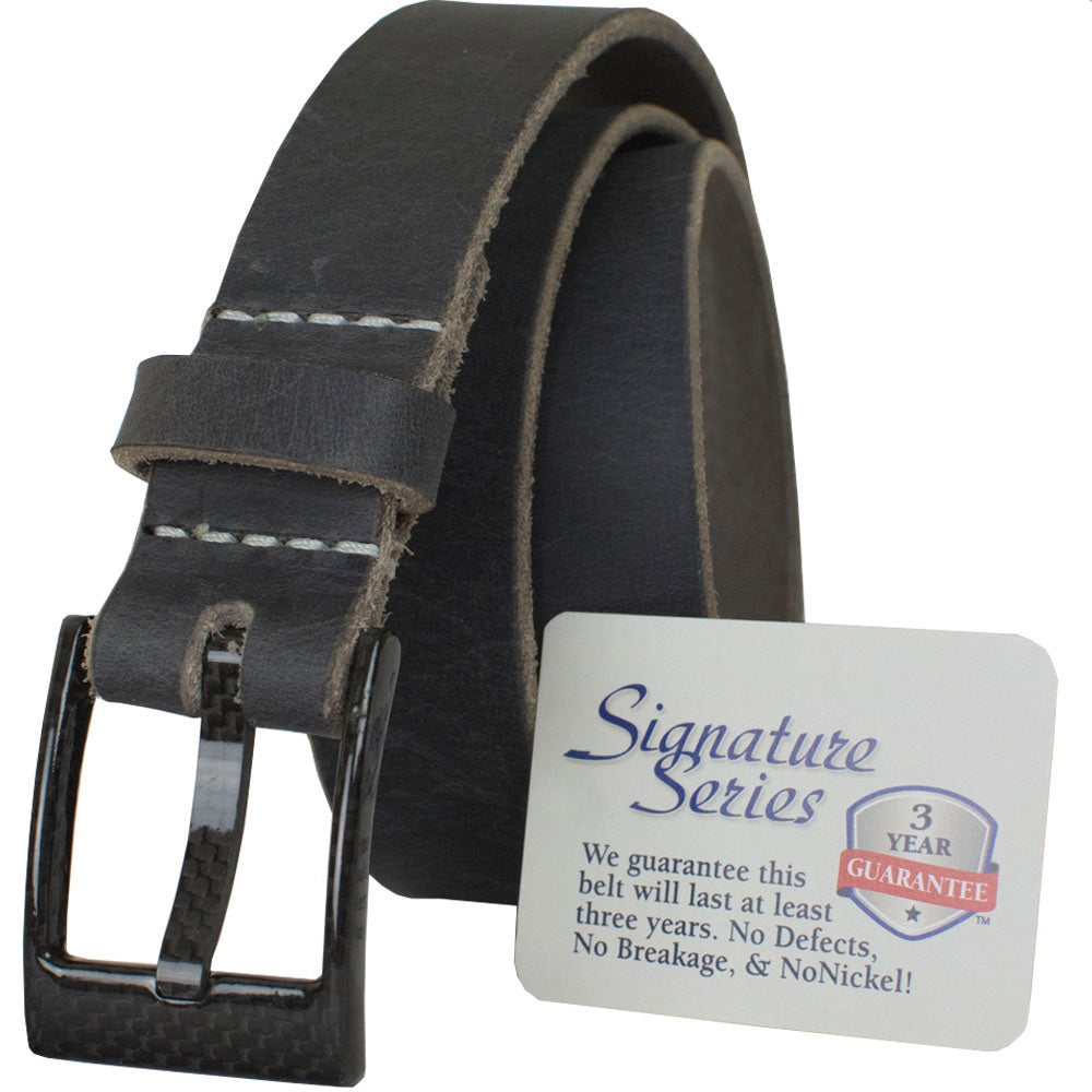 The Classified Distressed Gray Belt by Nickel Smart - carbonfiberbelts.com,