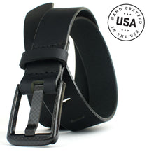 Load image into Gallery viewer, Carbon Fiber Wide Pin Black Belt by Nickel Smart™
