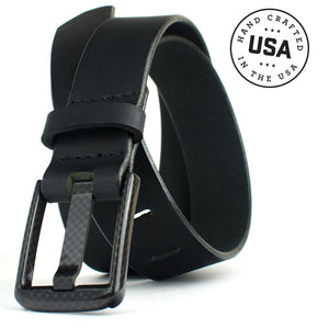Metal free belt is Made in USA  - great for those with high security jobs