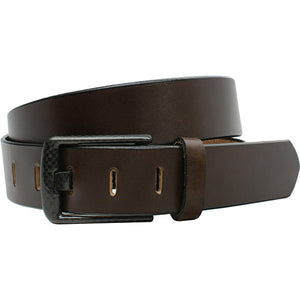 Wide Pin Brown Belt by Smart Nickel - carbonfiberbelts.com, Brown belt handmade in the USA