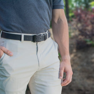 The Classified Distressed Gray Belt by Nickel Smart - carbonfiberbelts.com, lightweight, work belt