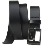 The Classified Black Belt by Nickel Smart - carbonfiberbelts.com, Black belt made with genuine leather stitched with a black carbon fiber pin buckle, lightweight, no metal, TSA Friendly