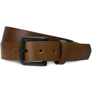 The Specialist Brown Belt by Nickel Smart - carbonfiberbelts.com, genuine leather