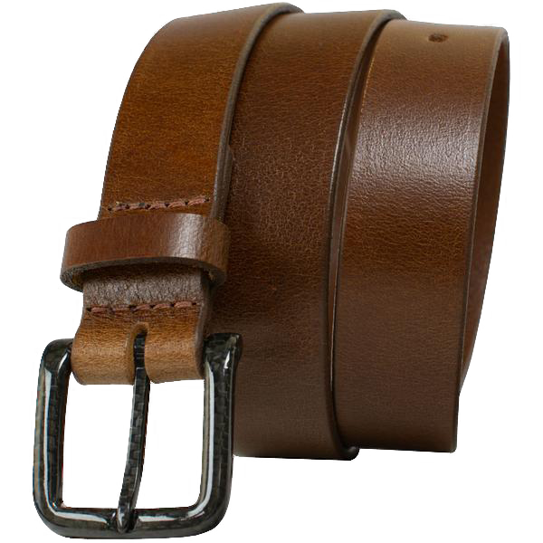 The Specialist Brown Belt by Nickel Smart - carbonfiberbelts.com, Brown belt made with genuine leather stitched with a black carbon fiber pin buckle, no metal, lightweight