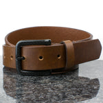 The Specialist Brown Belt by Nickel Smart - carbonfiberbelts.com, no nickel, no metal, TSA friendly