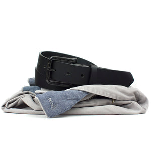 The Specialist Black Belt by Nickel Smart - carbonfiberbelts.com, travel belt, TSA friendly