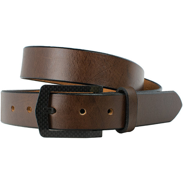 The Stealth Brown Belt by Nickel Smart - carbonfiberbelts.com, work belt, travel belt