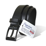 The Classified Black Belt by Nickel Smart - carbonfiberbelts.com, black carbon fiber pin buckle