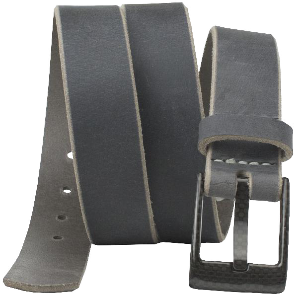 The Classified Distressed Gray Belt by Nickel Smart - carbonfiberbelts.com, TSA friendly