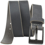 The Classified Distressed Gray Leather Belt by Nickel Smart®