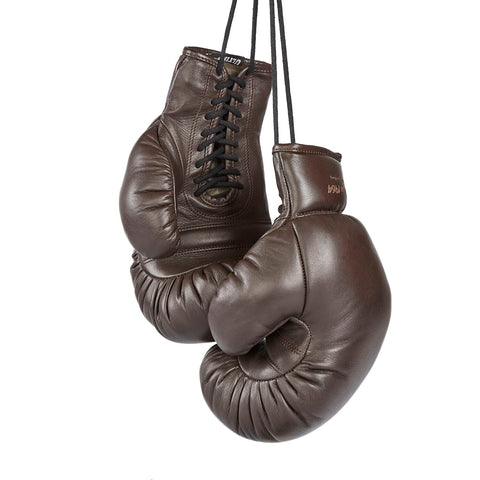 Limited Edition Old-School Boxing Gloves Tokyo 1964 Brown by Ultimatum Boxing