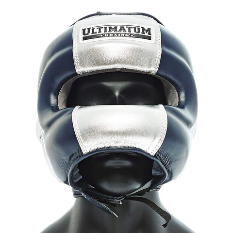 Ultimatum Boxing Professional Facebar Headgear Gen3FaceBar Navy