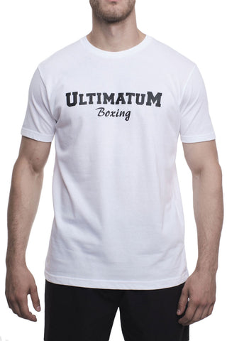 Ultimatum Boxing T-Shirt BaseLine White