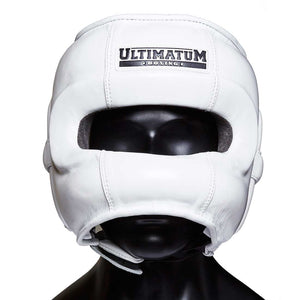 Ultimatum Boxing Professional Facebar Headgear Gen3FaceBar WhiteForce
