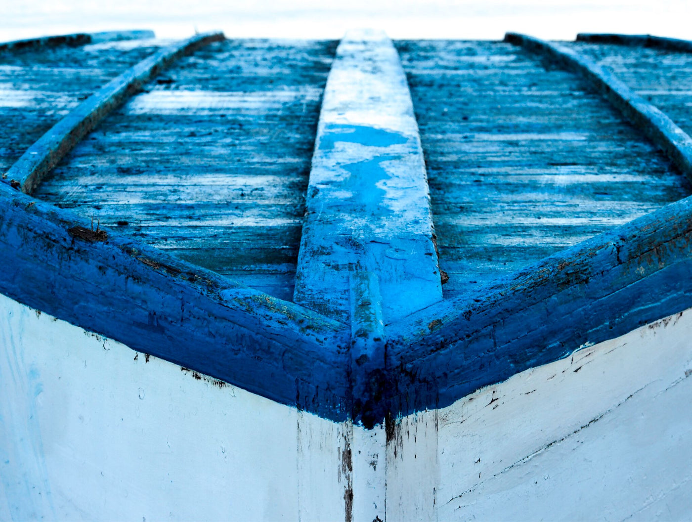 Blue & White Boat