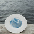 Blue Crushed Glass Plate