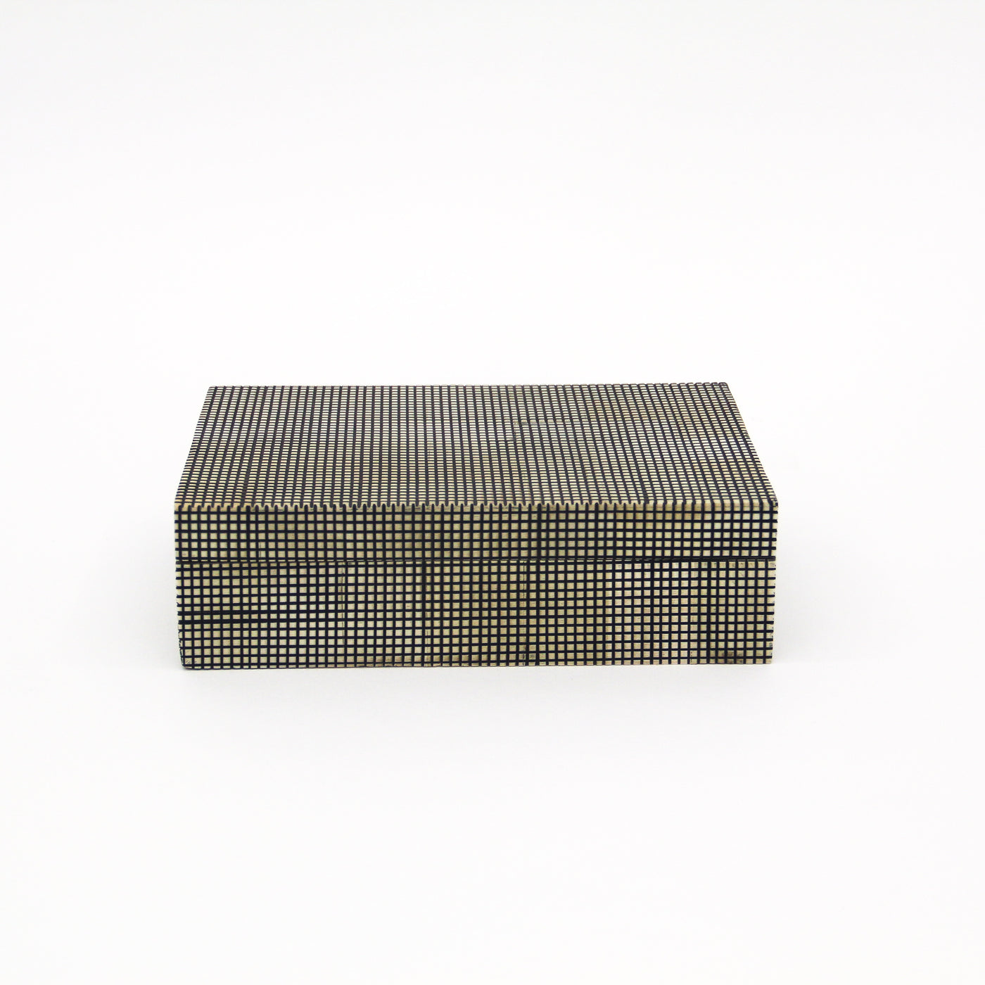 Black And White Checkered Bone Box