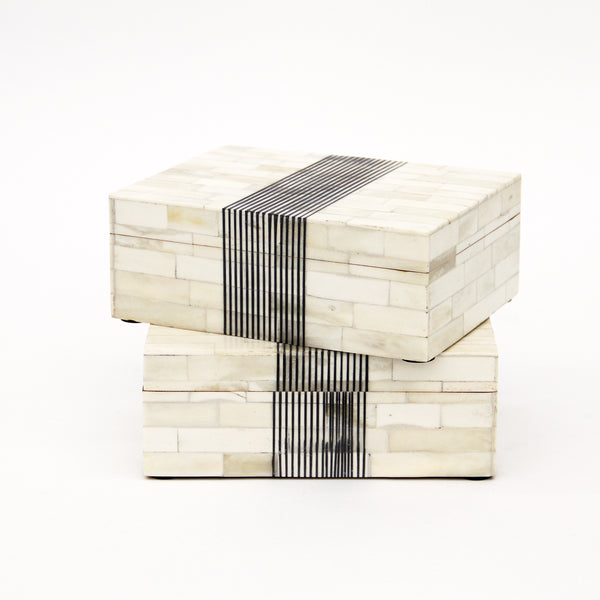 Stripe Pattern Bone Box