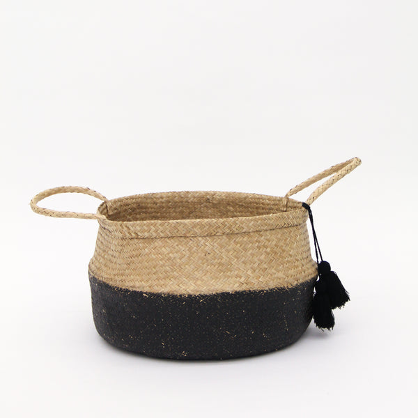 Dip Dyed Moroccan Woven Basket